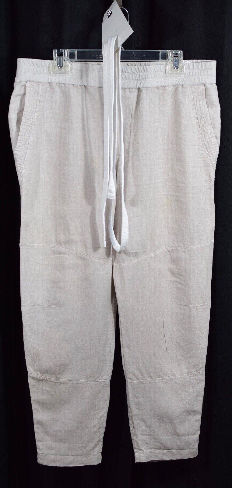 James Perse Canvas Linen Patched Pant Calcite Size 4