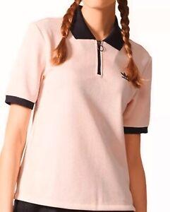 Adidas Originals Half Zip Damen Osaka Poloshirt Ice Pink