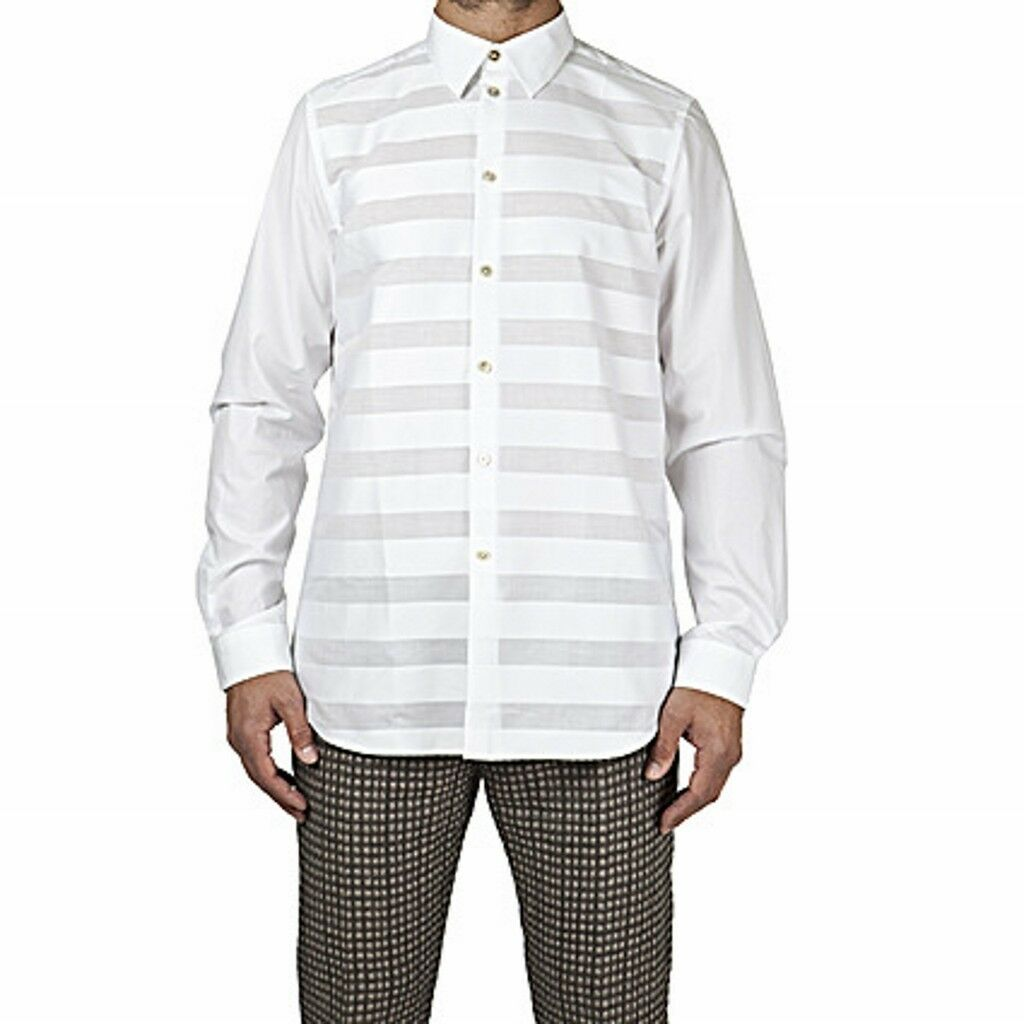 Paul Smith shirt tone on tone striped, tonal stripe shirt