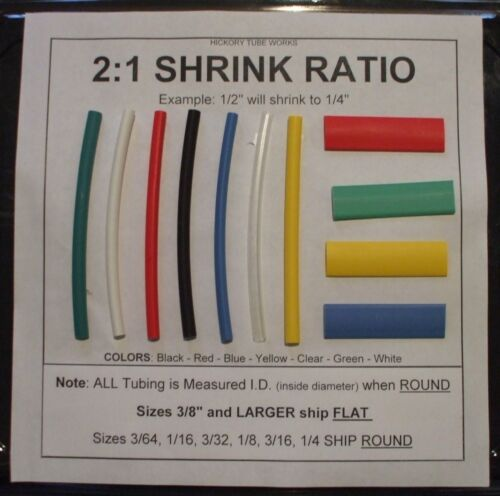 "3//64/"" BLACK 10/' Heat Shrink Tubing Shipping Discounts"