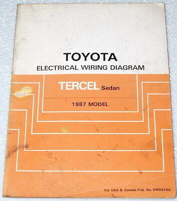 1987 Toyota Tercel Electrical Wiring Diagrams Sedan ...