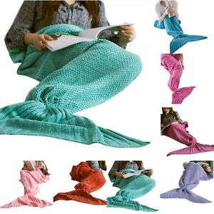 Mermaid-Tail-Sofa-Blanket-Super-Soft-Warm-Hand-Crocheted-Knitting-Wool-For-Adult