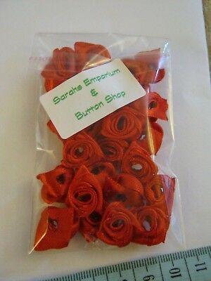Satin Ribbon Rose Packet of 25 FREE P/&P **NEW**  SHINY LILAC 12-15mm