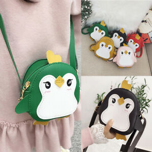 Cute Outdoor Cartoon Penguin Shape Baby Toy School Bag Mini Plush Backpack Kids