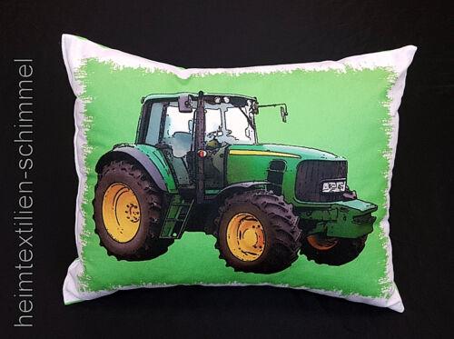 Coussin Oreiller avec Remplissage Enfants Coussin Canapé Coussin Satin Tissu tracteur 30x40
