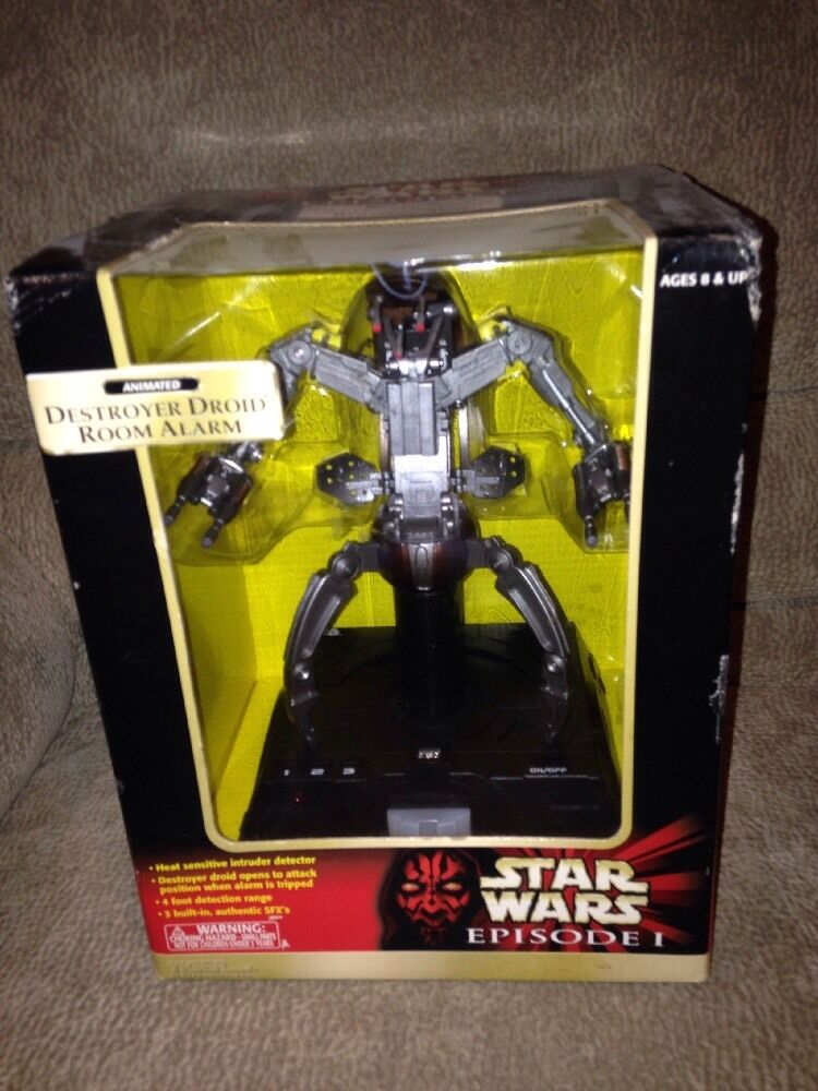 1999 STAR WARS EPISODE 1 ANIMATED DESTROYER DROID ROOM ALARM