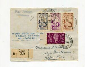 1ER-VOYAGE-SANS-ESCALE-DAKAR-FRANCE-LETTRE-RECO-PAR-AVION-DU-13-8-1945