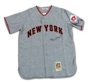 7ac86fbc Beautiful Willie Mays Signed 1951 New York Giants Game Model Jersey ...