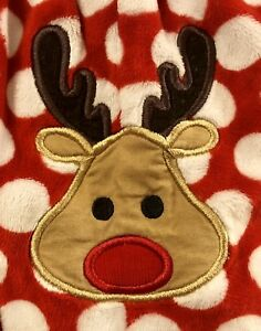 ece52e7a4a02 Image is loading Boutique-Lolly-Wolly-Doodle-Christmas-Reindeer-MINKY-Soft-