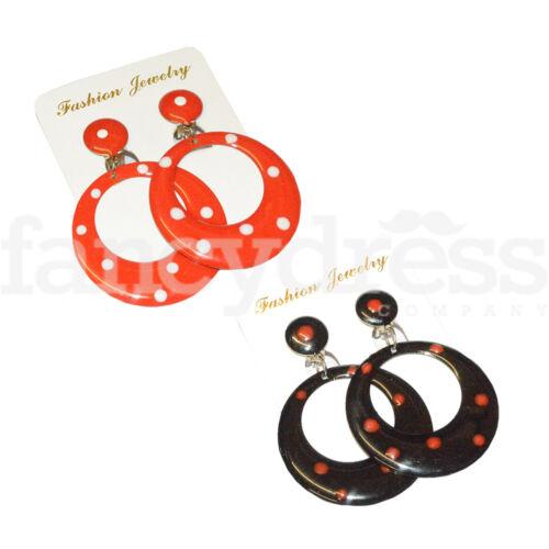 NEW Medium Spanish Flamenco Dance Earrings Aretes Clip on 5.5cm Drop Fancy Dress