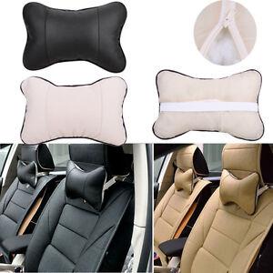 Voyage-Car-Auto-Seat-Head-Neck-Rest-cuir-Coussin-Pad-Os-Oreiller-appui-tete