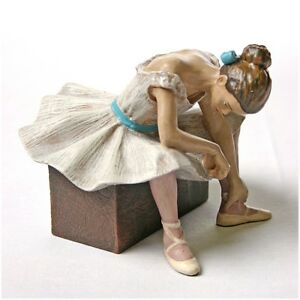 Ballerina Waiting for Audition L'attente Statue Dancer Tutu by Degas 4H