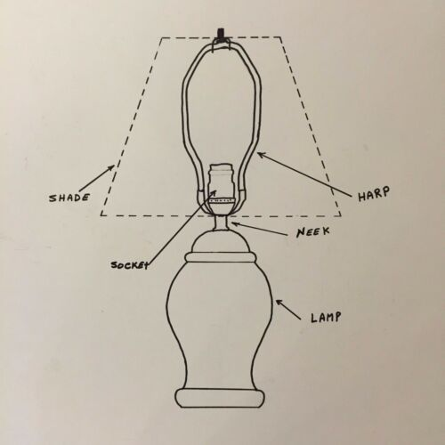 "14/"" Oblong BLACK GOLD LINING Lampshade Rectangular Cut-Corner  Shantung SilK"