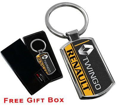 Renault Keyring NEW UK Seller Silver Black Car Key Ring KeyChain Leather