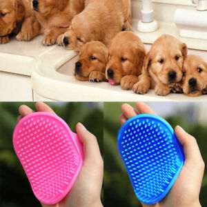 Pet-Dog-Cat-Bath-Brush-Comb-Rubber-Glove-Hair-Fur-Grooming-Massaging-Brush-Mit-L