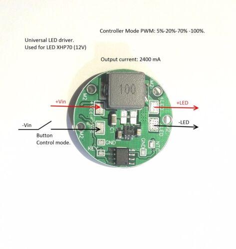 6.5V-27V Multi-Mode XHP70,XML 2.4A LED driver LDR29/_BUT/_POWER 2.4A