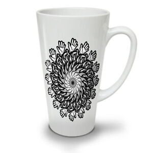 Mandala Flowers NEW White Tea Coffee Latte Mug 12 17 oz   Wellcoda