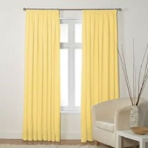 Image Is Loading Lima Butter Tab Top Pair Of Curtains With