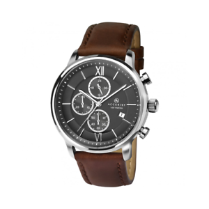 Accurist 7154 Chronographe Chronomètre 100 M Rembourré Bracelet en Cuir RRP £ 129.99