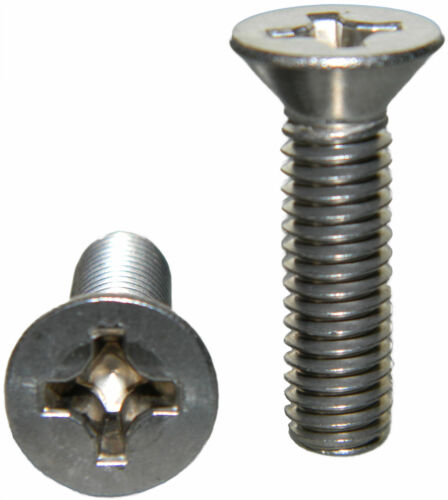 "Stainless Steel Flat Head machine Screws 8-32 x 3//8/"" Qty 50"