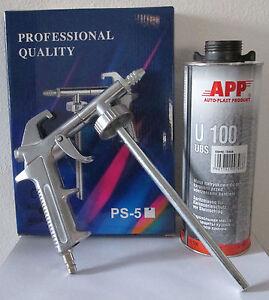 1-pistolet-pulverisation-2-cartouches-anti-gravillon-noir-peinture-automobile