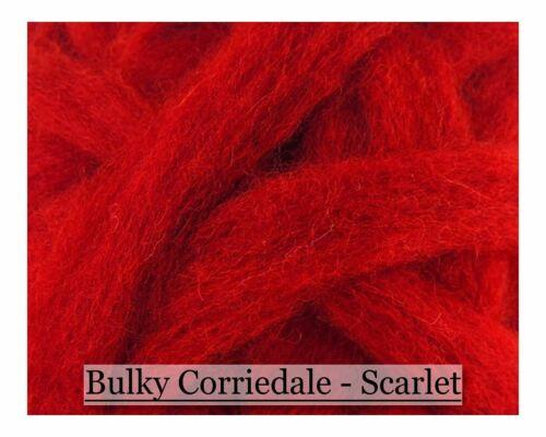 Corriedale Wool Roving Corriedale Wool Sliver Scarlet