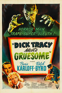 Dick-Tracy-Meets-Gruesome-1947-75cm-x-50cm-Art-Paper-Print