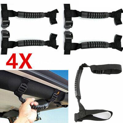 4 x Roll Bar Grab Handles Grip Handle for Jeep Wrangler YJ TJ JK JKU JL JLU Sports Sahara Freedom Rubicon X /& Unlimited 1995-2018 (Roll Bar Black)