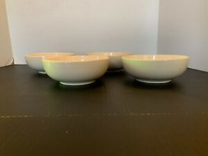 Vintage-McCoy-Pottery-White-Cereal-Bowl-Set-of-4-D
