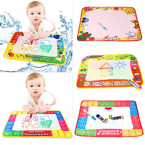 multi colore enfants eau criture peinture tapis de dessin plateau stylo magique ebay. Black Bedroom Furniture Sets. Home Design Ideas