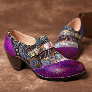 SOCOFY-Women-Bohemia-Genuine-Leather-Shoes-Splicing-Jacquard-Zipper-Boots