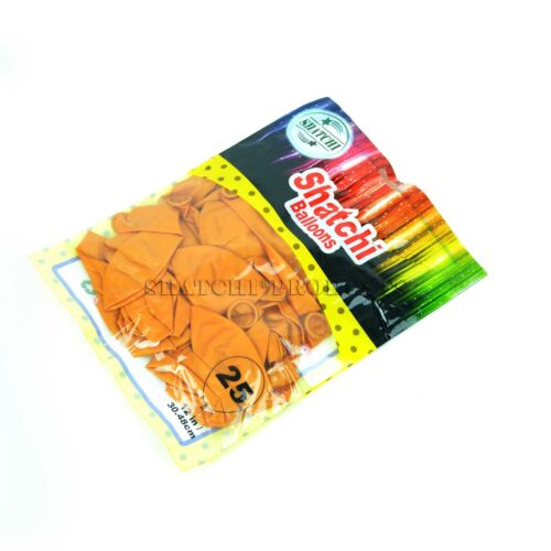 "25 High Quality Orange LATEX BALLOONS party 12/"" METALLIC//Pearlised Metallic"