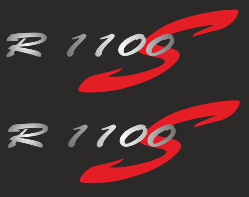 Adesivo Sticker Per BMW r1100s rivestimento R 1100 S Argento-Rosso