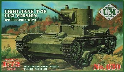 Um-mt 1/72 T-26 1933 Version Light Tank # 630 Chills And Pains pre-production