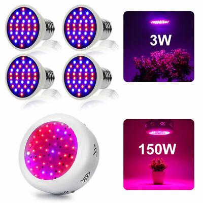 2x 150W VollSpektrum Pflanzenlampe LED Grow Licht Blumen Gemüse Pflanzen Lamp DE