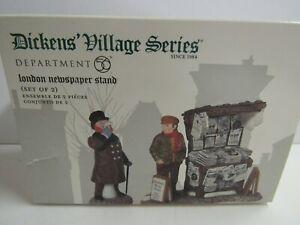 Dept 56 2 Piece Set Dickens Village London Newspaper Stand 58560