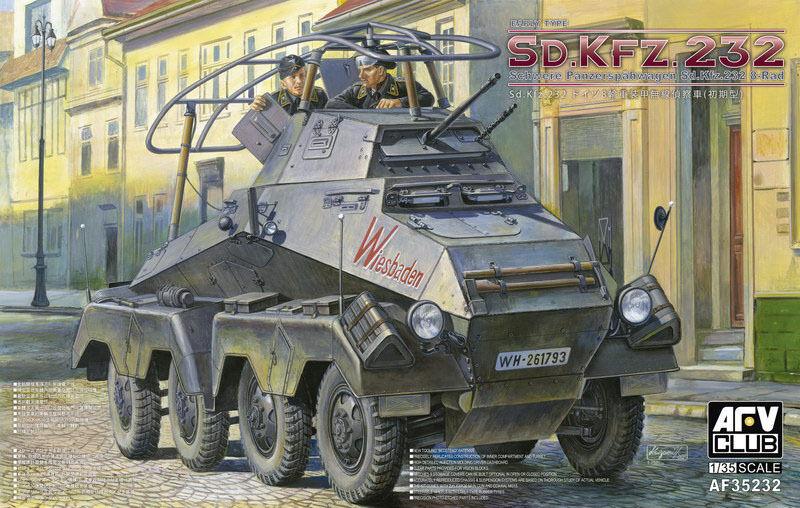 AFV Club 1 35 German Sd.Kfz.232 8 ROD early version Early