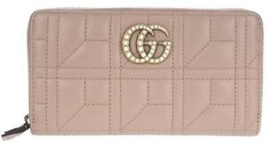 b5b7f3785367 Image is loading NEW-GUCCI-PEARL-GG-MARMONT-MATELASSE-CHEVRON-LEATHER-