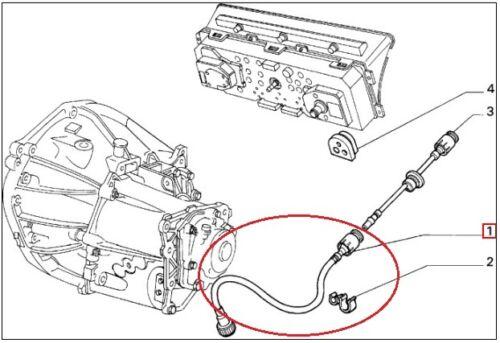 CAVO CONTACHILOMETRI COMPLETO 82430504 LANCIA DELTA 4WD DALL /'86 AL /'91