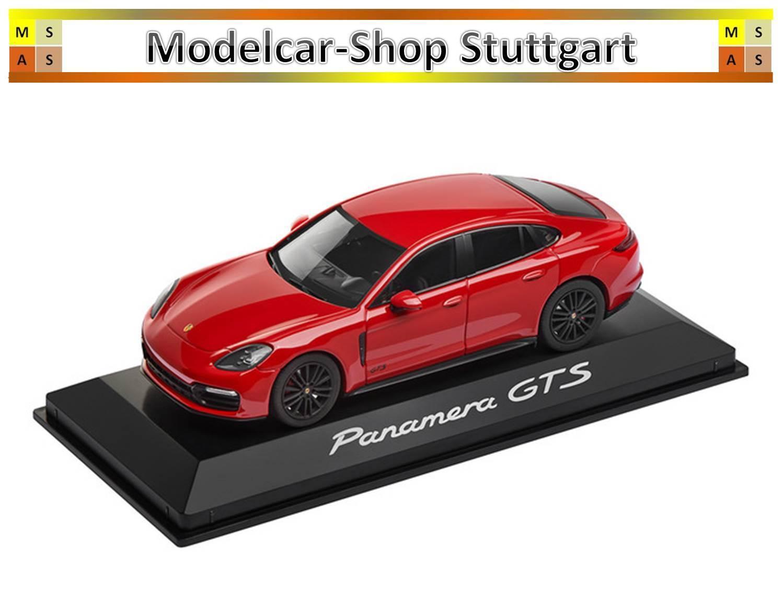 Porsche Panamera GTS Carmine Red Herpa 1 43 WAP0207310J Brand New