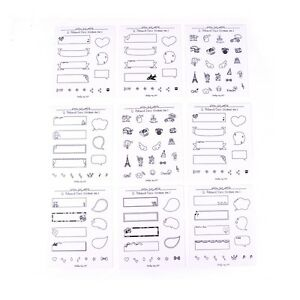 8sheets-Set-decoracion-pegatinas-para-Polaroid-foto-Scrapbook-Diarybook-Notebook
