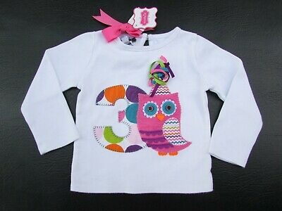Infant//Toddler Pink Small Mud Pie Baby Girls Sequin Owl Sweatshirt