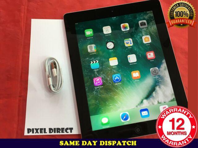 GRADE A-B Apple iPad 4th Gen.32GB,Wi-Fi+Cellular(Unlocked),9.7in -Black -Ref 105