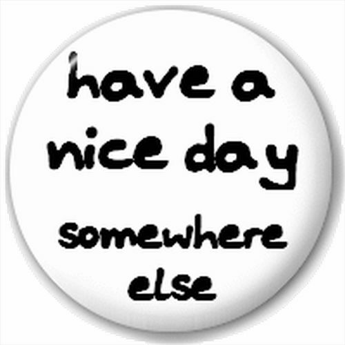 Pin Button Badge Somewhere Else Have A Nice Day