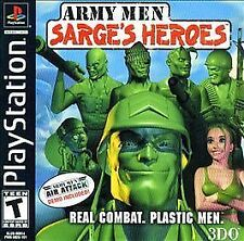 Sony Playstation PS1 Game ARMY MEN SARGE'S HEROES