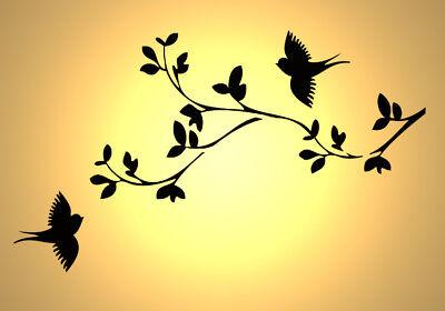 Vintage style A4 297x210mm Shabby Chic Stencil birds in sky full Rustic Mylar