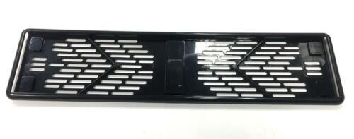 BLACK Surround PIASTRA frame-car titolare di licenza di facile installazione elegante per aggiungere