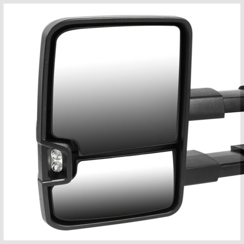 Manual LED Signal Towing Side Mirror for 88-00 Chevy C//K CK Tahoe//Suburban Pair