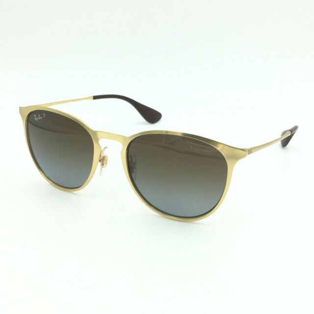 ae2843a5b0 Ray Ban Erika Gold Metal Brown Gradient Polarized Sunglasses Rb3539 112 t5  54