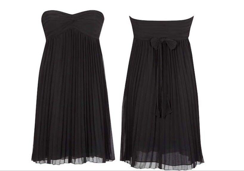 "(#2156) Coast ""trudy Pleat Dress"" Brand New With Tags Size 14 Uk"
